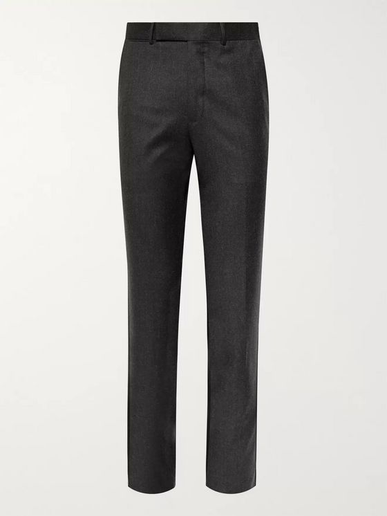 Ermenegildo Zegna Slim-Fit Wool-Felt Trousers