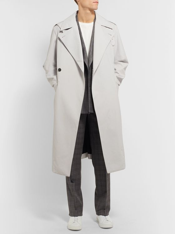 Gabriela Hearst Ginsberg Double-Breasted Wool-Blend Trench Coat