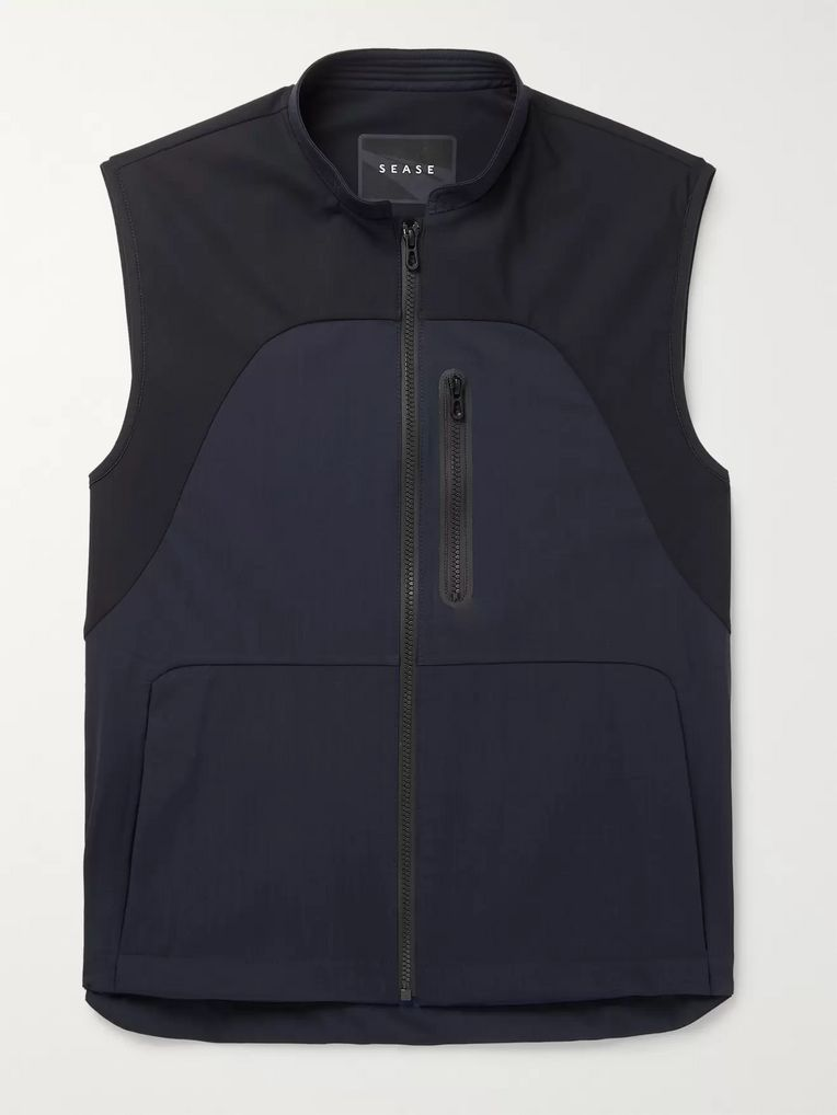Sease Low Pressure Panelled Virgin Wool-Blend and Stretch-Nylon Gilet