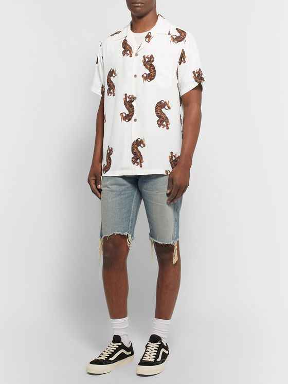 Wacko Maria Camp-Collar Printed Woven Shirt