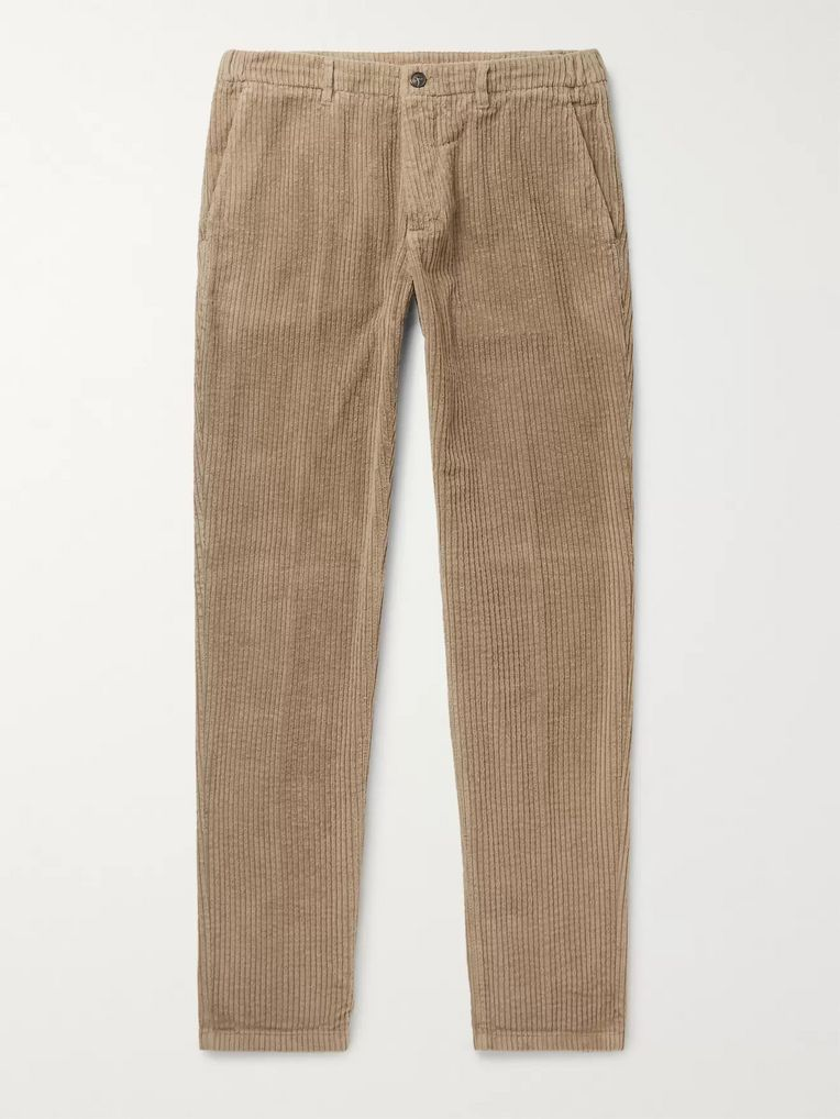 Altea Slim-Fit Tapered Cotton-Corduroy Trousers