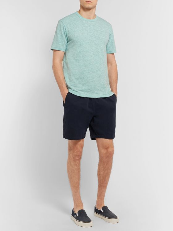 Faherty Mélange Slub Cotton-Blend Jersey T-Shirt