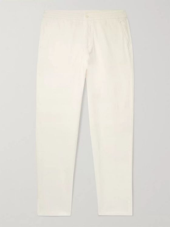 Ermenegildo Zegna Stretch Cotton and Silk-Blend Twill Trousers