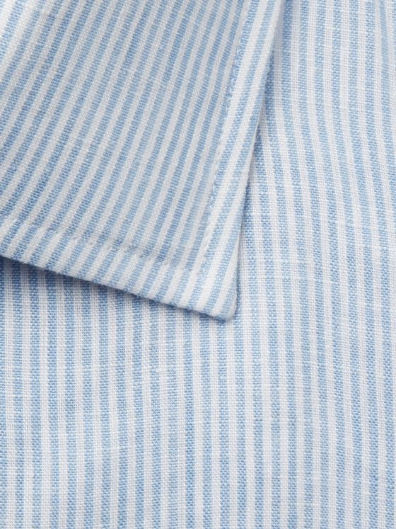 Emma Willis Light-Blue Striped Linen Shirt