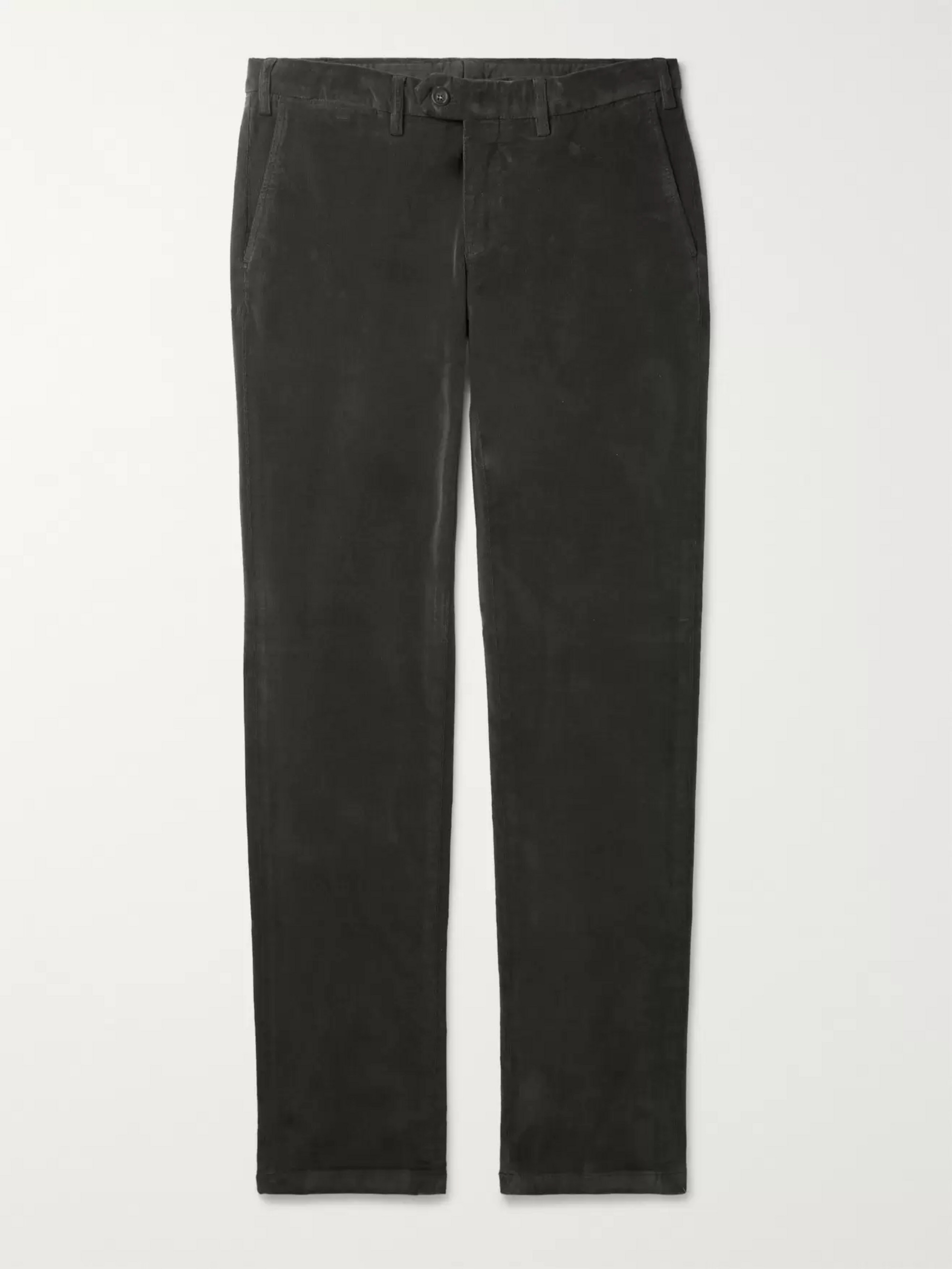 Canali Cotton-Blend Corduroy Trousers