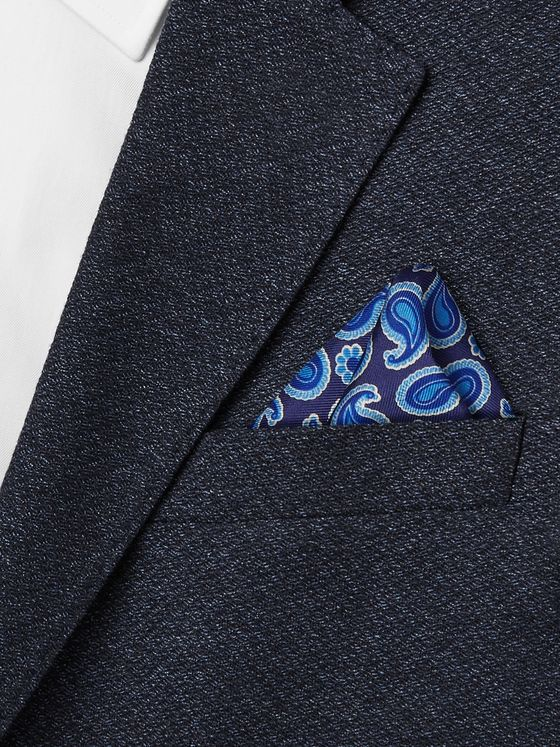 Turnbull & Asser Paisley-Print Silk-Twill Pocket Square