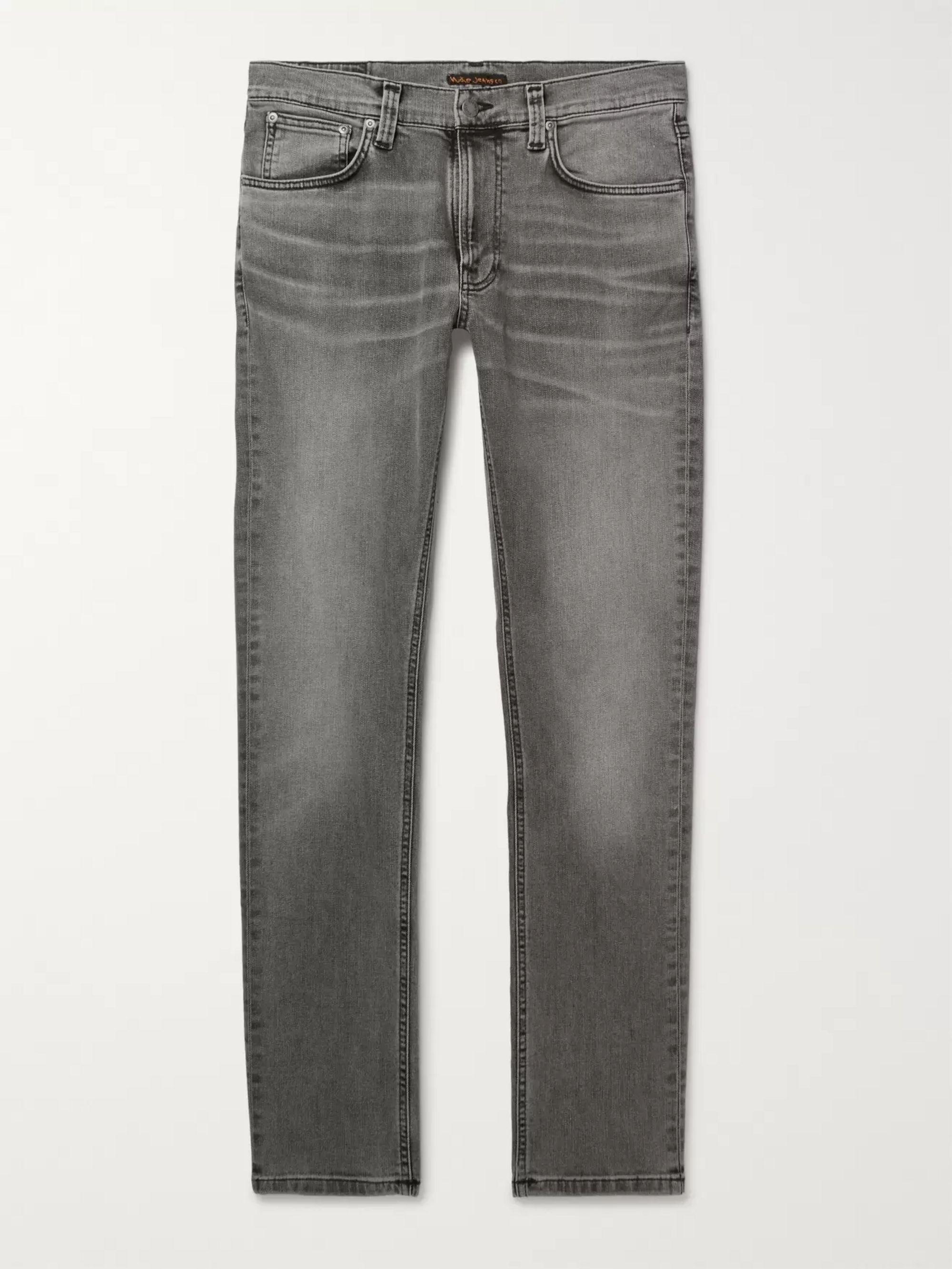 Lean Dean Slim Fit Washed Organic Denim Jeans by Nudie Jeans