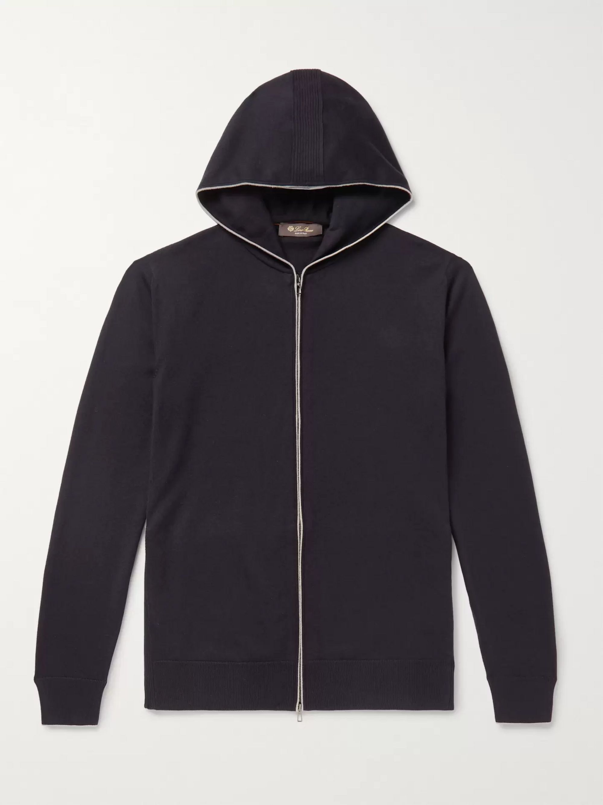 Loro Piana Cotton and Cashmere-Blend Zip-Up Hoodie