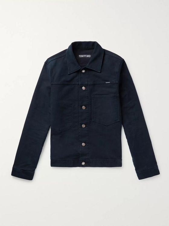 TOM FORD Brushed-Denim Trucker Jacket