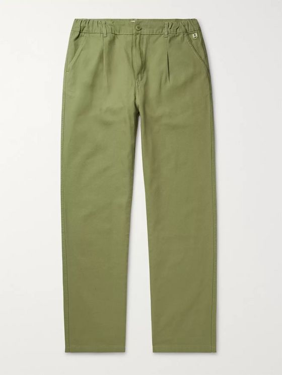 Armor Lux Pleated Cotton Trousers