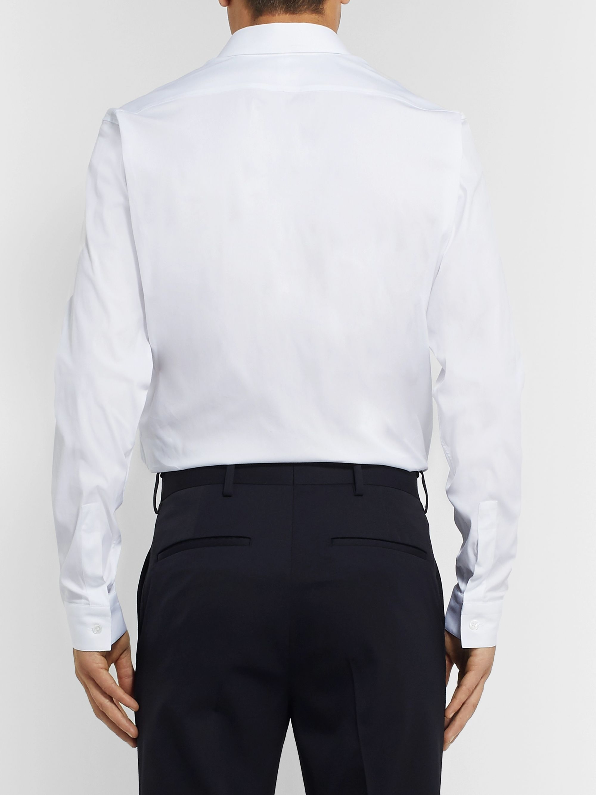Berluti White Slim-Fit Cotton-Blend Poplin Shirt