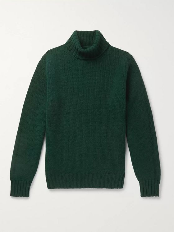 Drake's Slim-Fit Lambswool Rollneck Sweater
