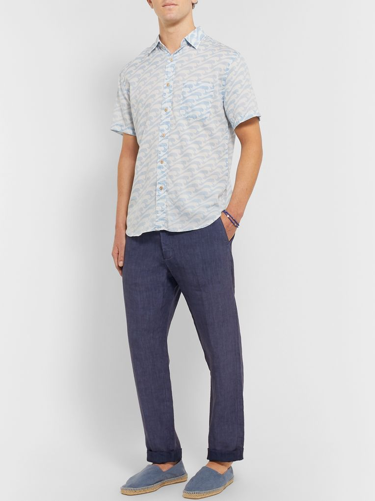 Faherty Printed Cotton-Voile Shirt
