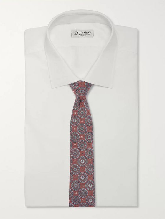 Turnbull & Asser 8cm Silk and Wool-Blend Jacquard Tie
