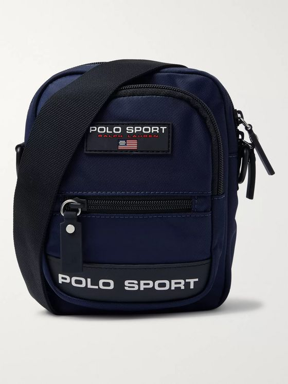 Polo Ralph Lauren Logo-Appliquéd Nylon Messenger Bag