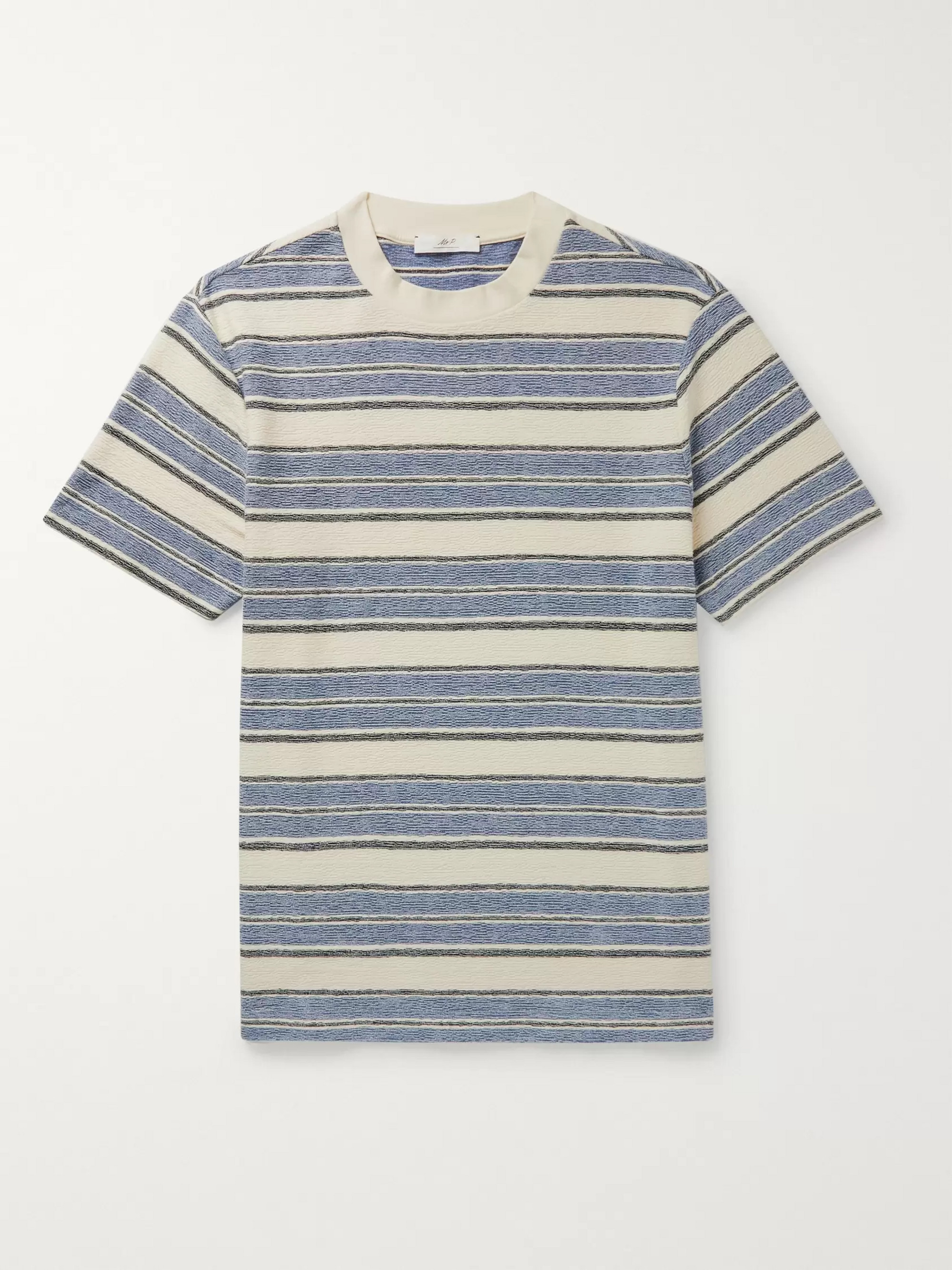 Mr P. Bouclé-Stripe Cotton-Jersey T-Shirt