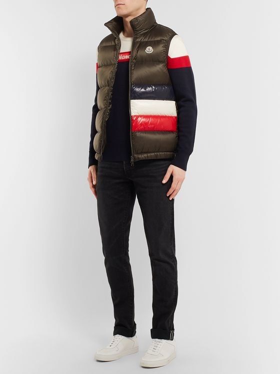 Moncler Colour-Block Virgin Wool Sweater