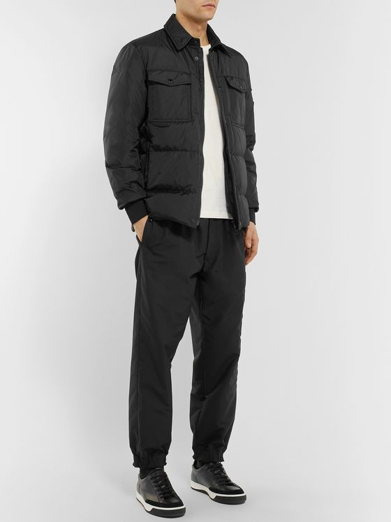 Moncler Gruss Slim-Fit Quilted Shell Down Shirt Jacket