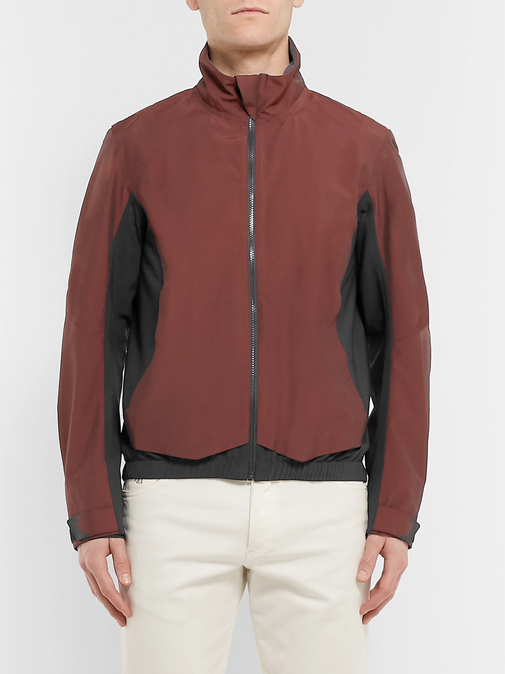 Sease Panelled Stretch-Nylon and Virgin Wool-Blend Jacket