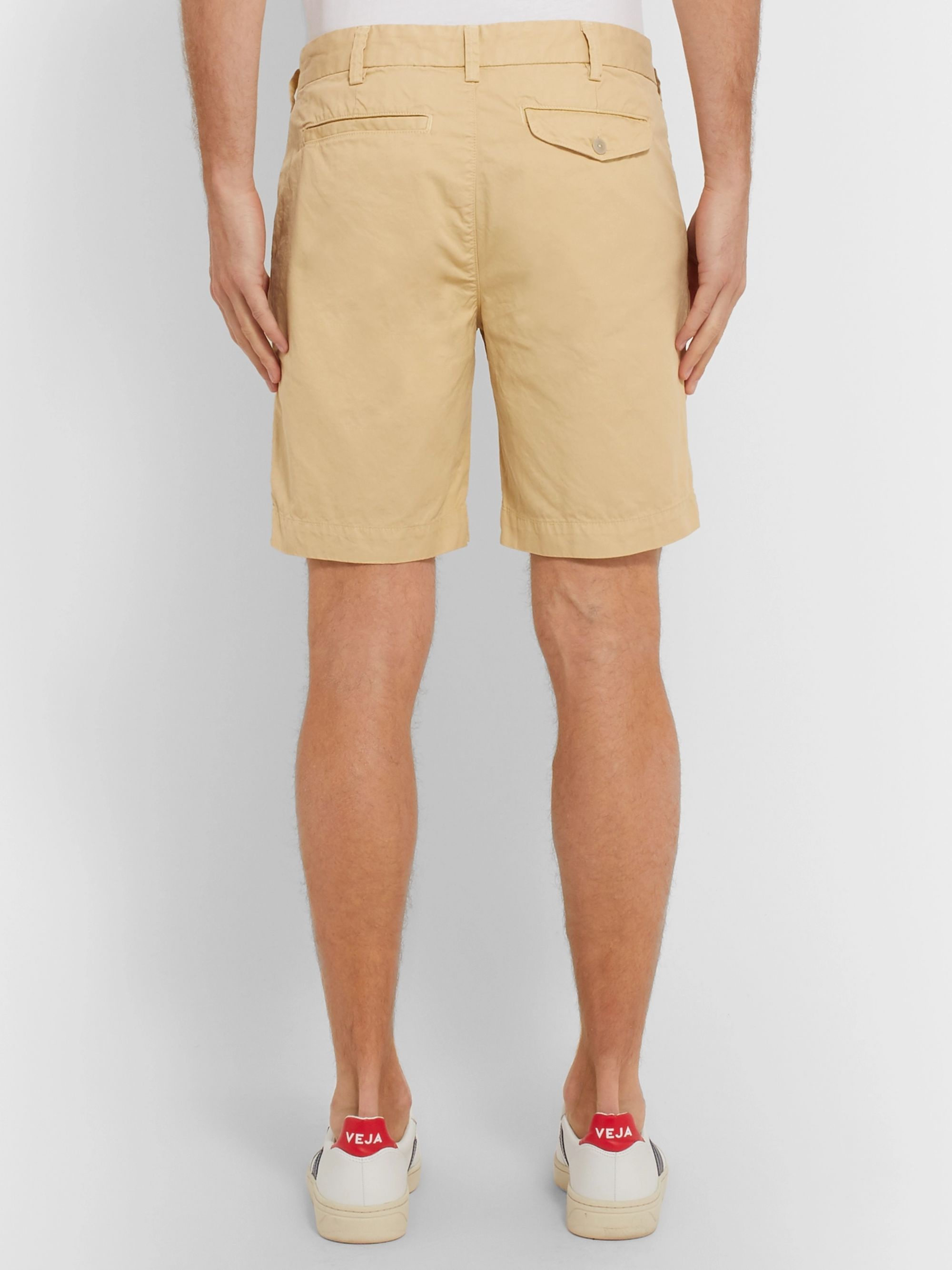 Save Khaki United Slim-Fit Cotton-Twill Shorts