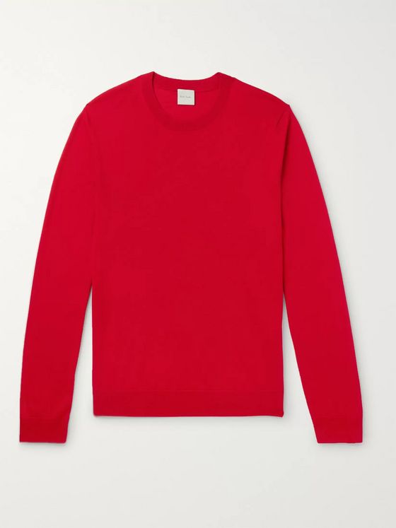 Paul Smith Embroidered Merino Wool and Silk-Blend Sweater