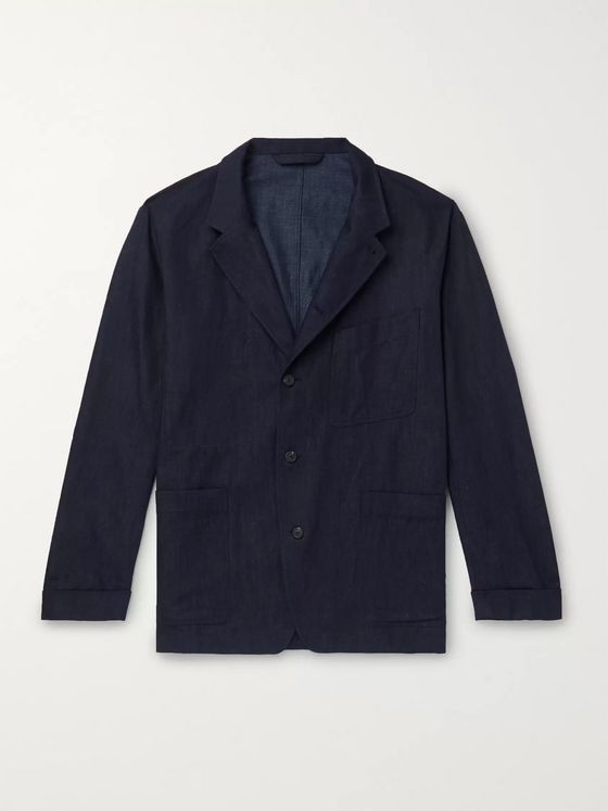 Paul Smith Cotton, Linen and Silk-Blend Denim Chore Jacket