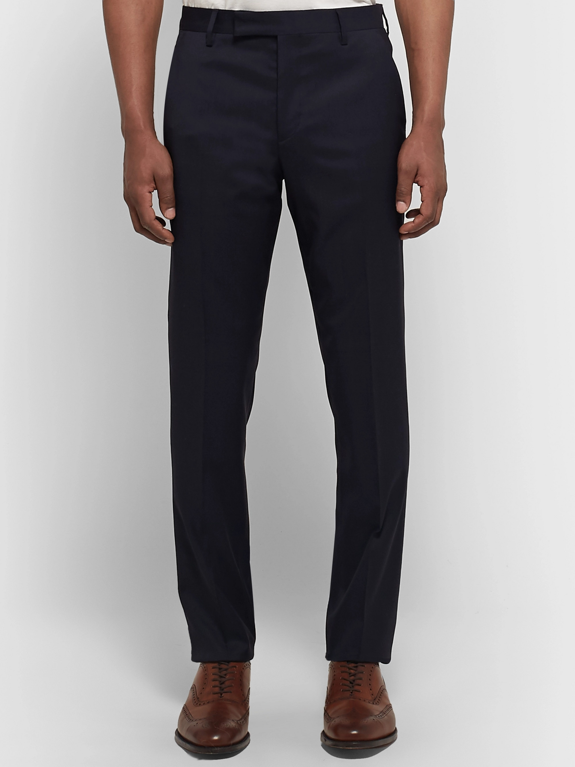 Paul Smith Midnight-Blue Soho Slim-Fit Wool Suit Trousers