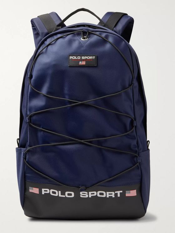 Polo Ralph Lauren Logo-Print Nylon Backpack