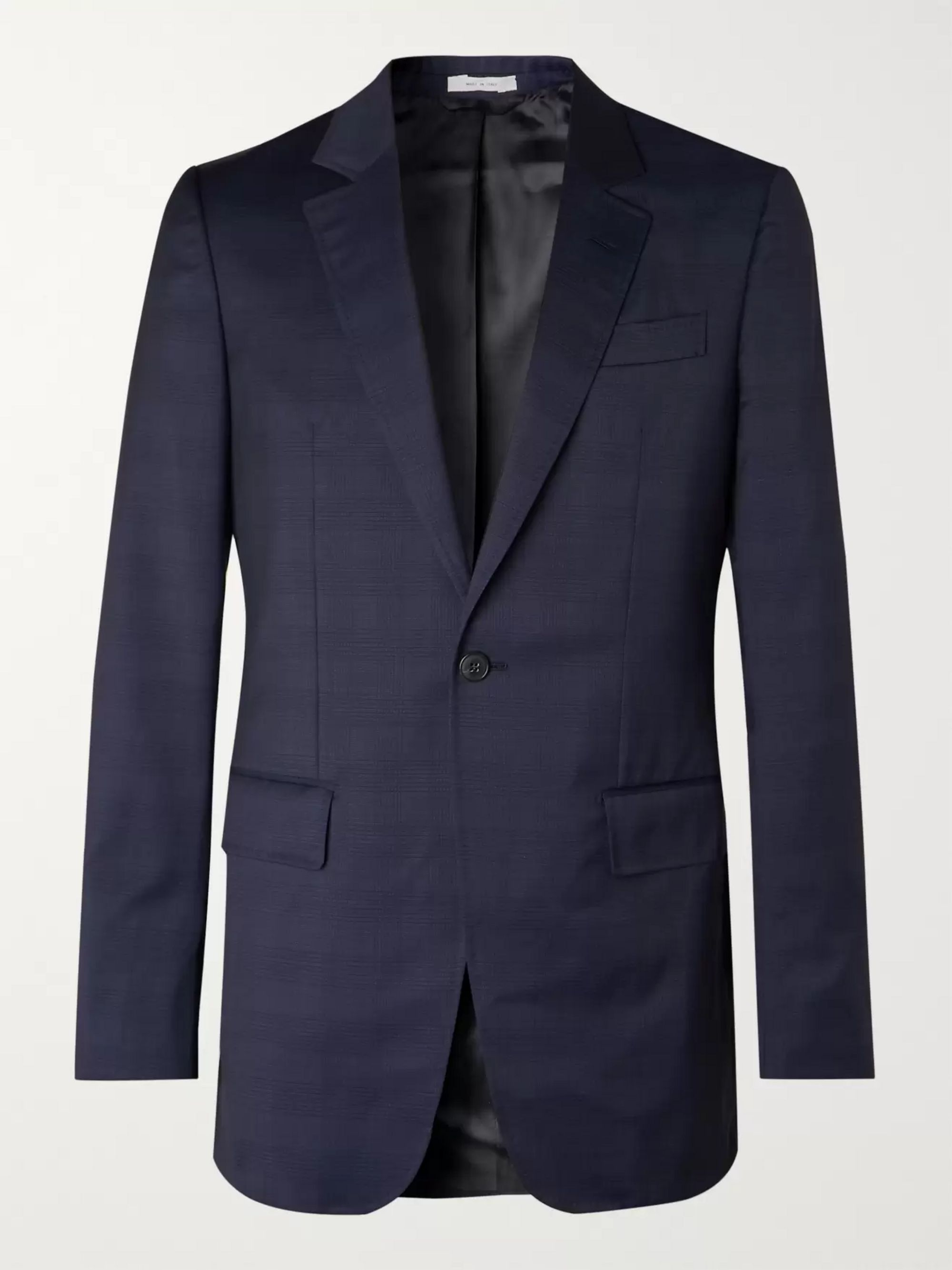 navy-damien-slim-fit-checked-wool-suit-jacket by gabriela-hearst