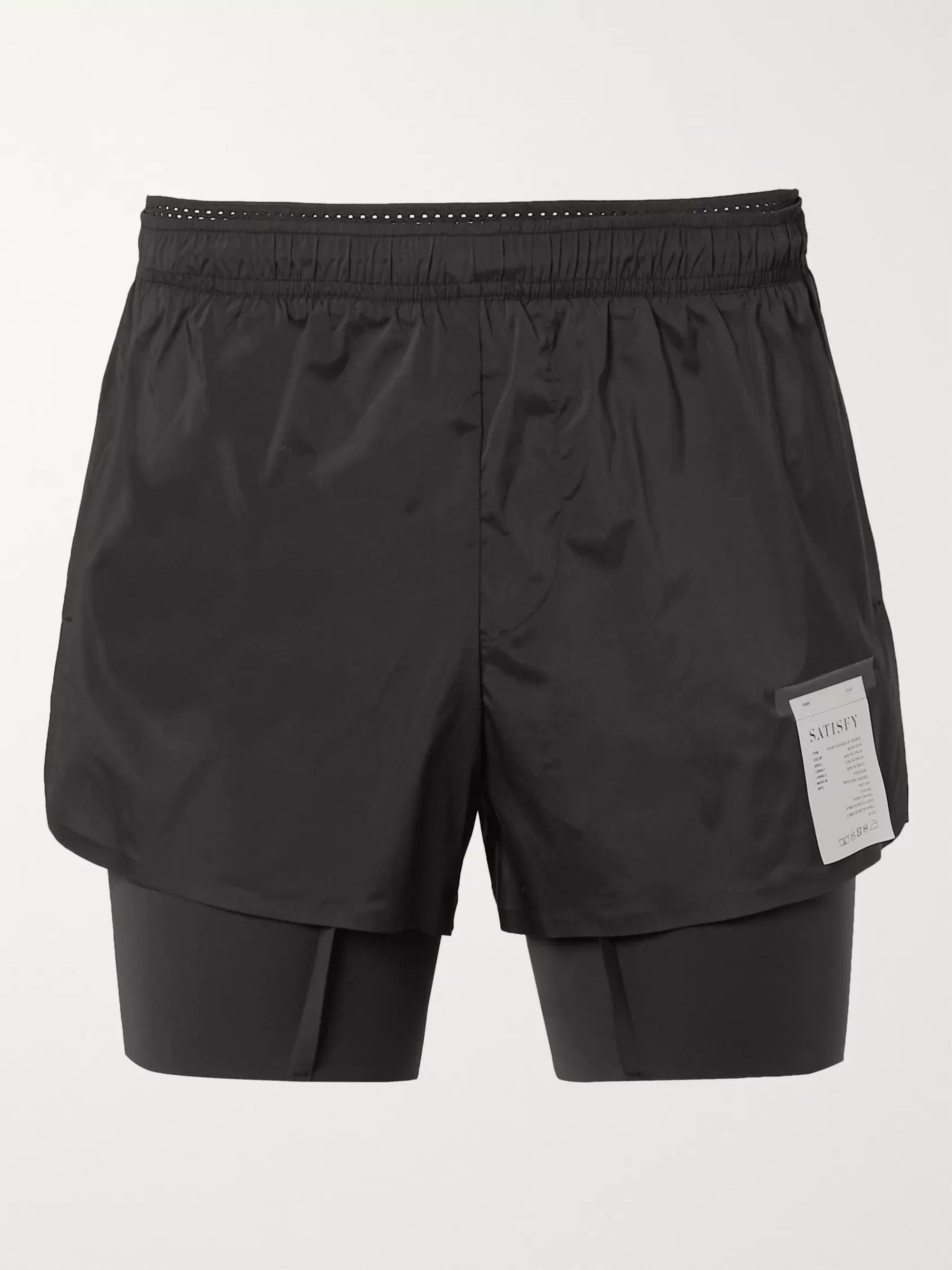 Black Layered Justice and Coldblack Running Shorts | Satisfy | MR PORTER