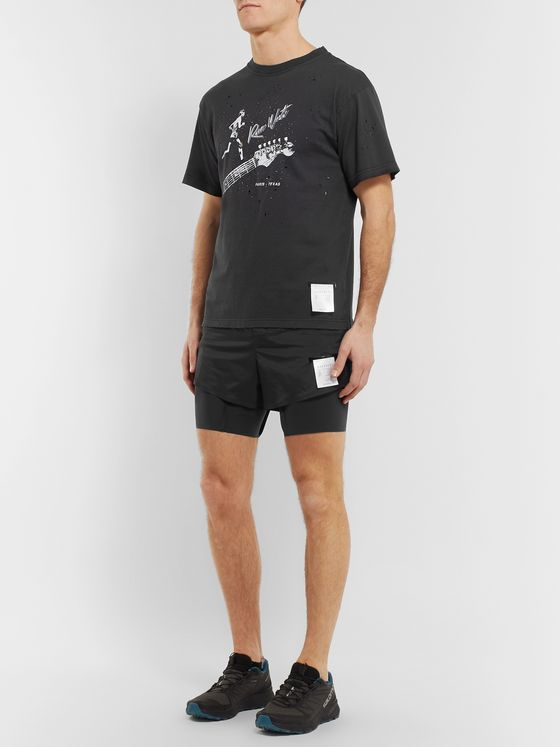Satisfy Layered Justice and Coldblack Running Shorts
