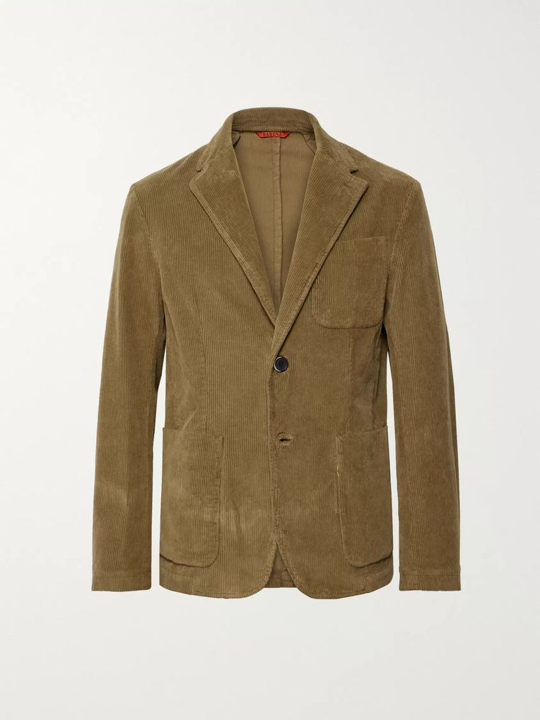 Barena Brown Stretch-Cotton Corduroy Blazer
