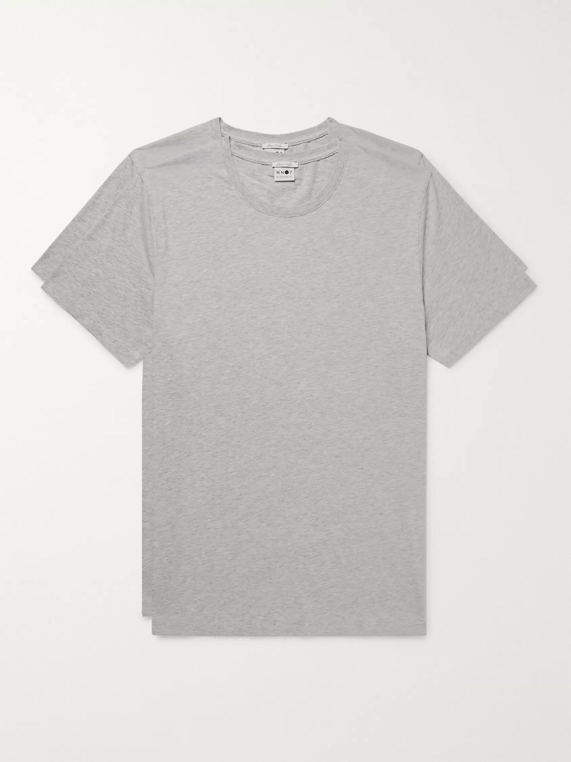 NN07 Two-Pack Mélange Pima Cotton-Jersey T-Shirts