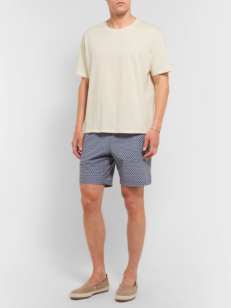 Faherty Slim-Fit Mid-Length Printed Swim Shorts