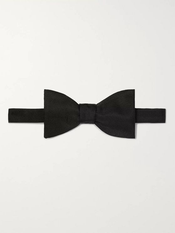 Favourbrook Pre-Tied Silk-Faille Bow Tie