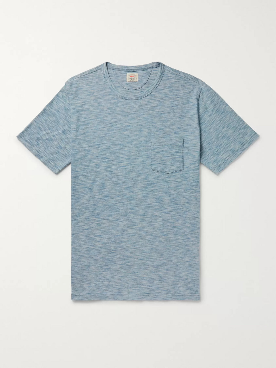 Faherty Indigo-Dyed Cotton-Jersey T-Shirt