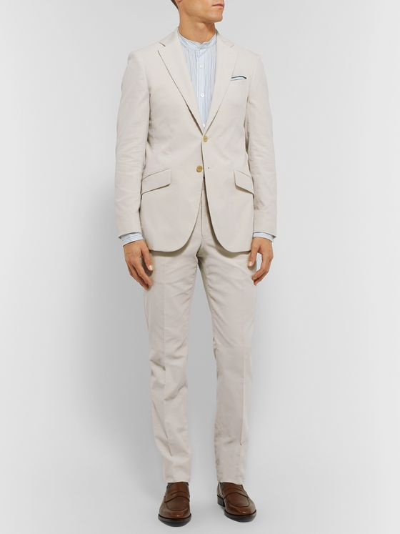 Richard James Cream Slim-Fit Cotton-Corduroy Suit Jacket
