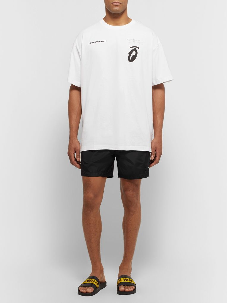Off-White Mid-Length Swim Shorts