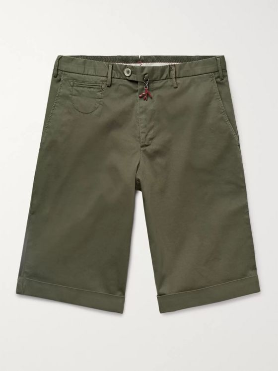 Isaia Cotton-Blend Twill Bermuda Shorts