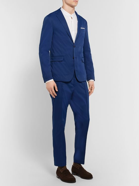Hugo Boss Navy Slim-Fit Twill Blazer