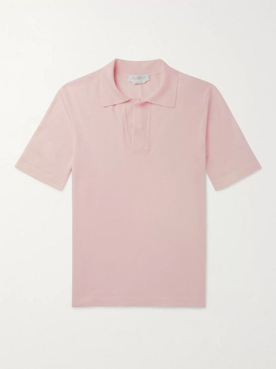 GABRIELA HEARST Slim-Fit Virgin Wool Polo Shirt