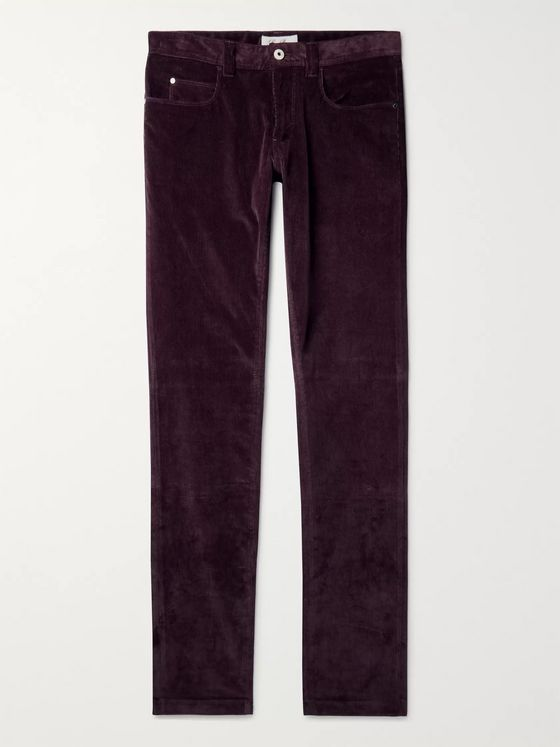 Loro Piana Slim-Fit Stretch-Cotton Corduroy Trousers