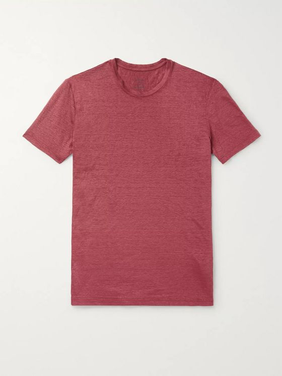 Altea Garment-Dyed Slub Linen T-Shirt