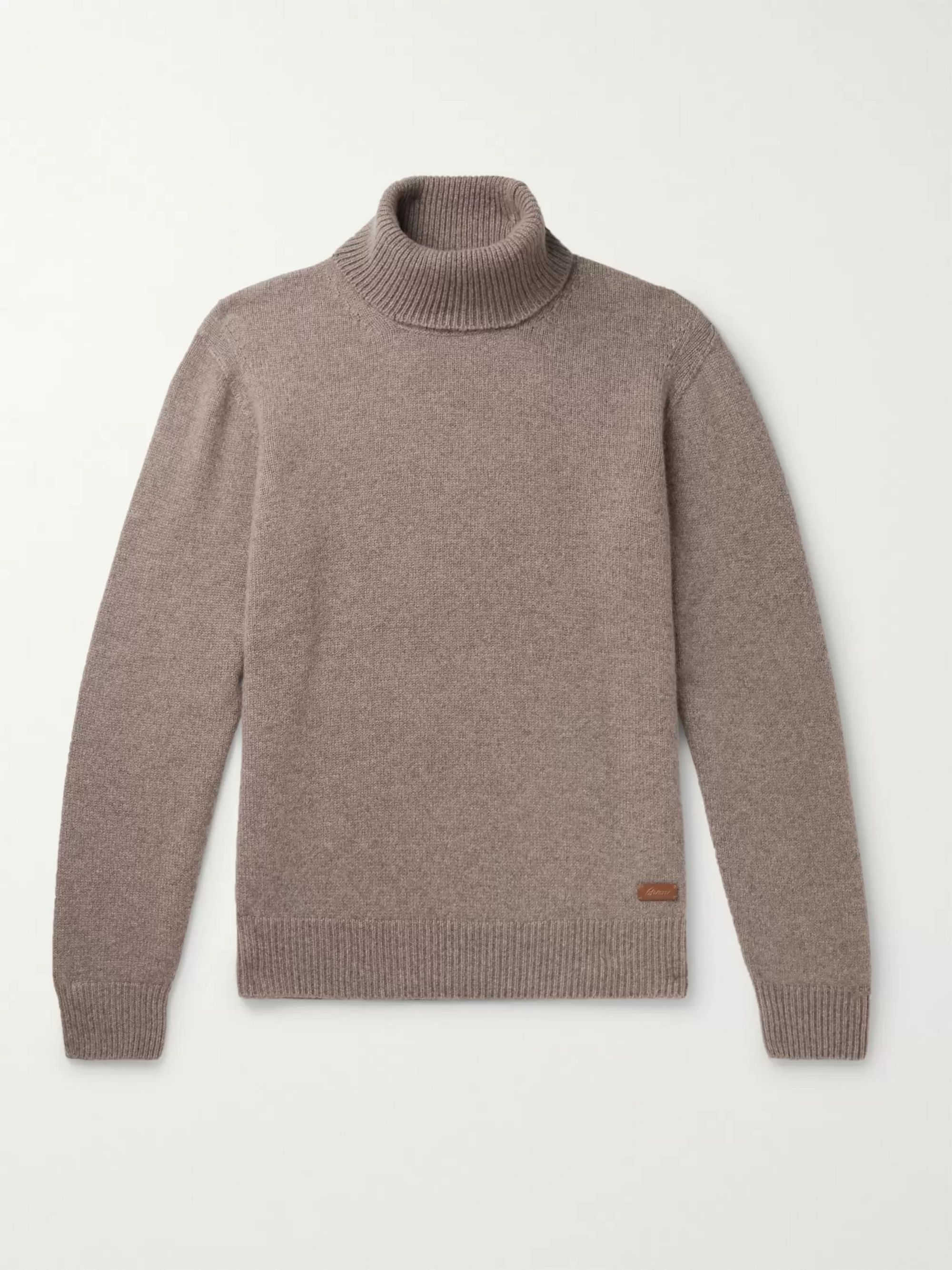 Logo Appliquéd Cashmere Rollneck Sweater by Brioni