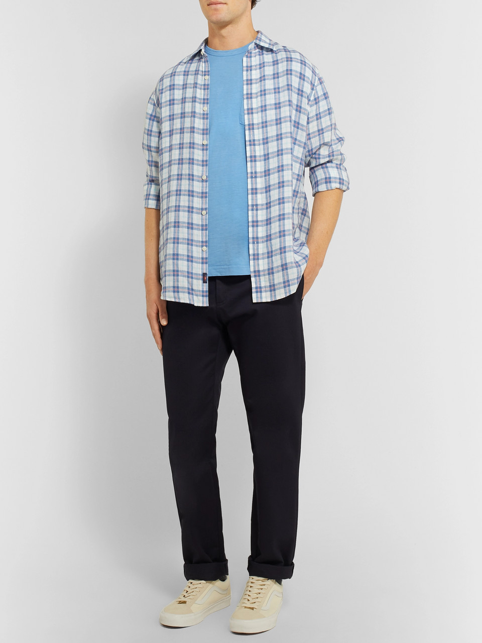 Faherty Slub Cotton-Jersey T-Shirt
