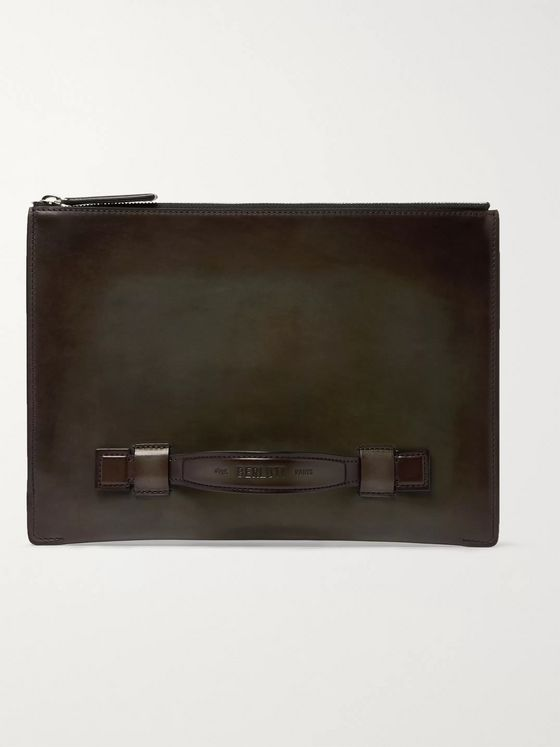 Berluti Handle Leather Pouch