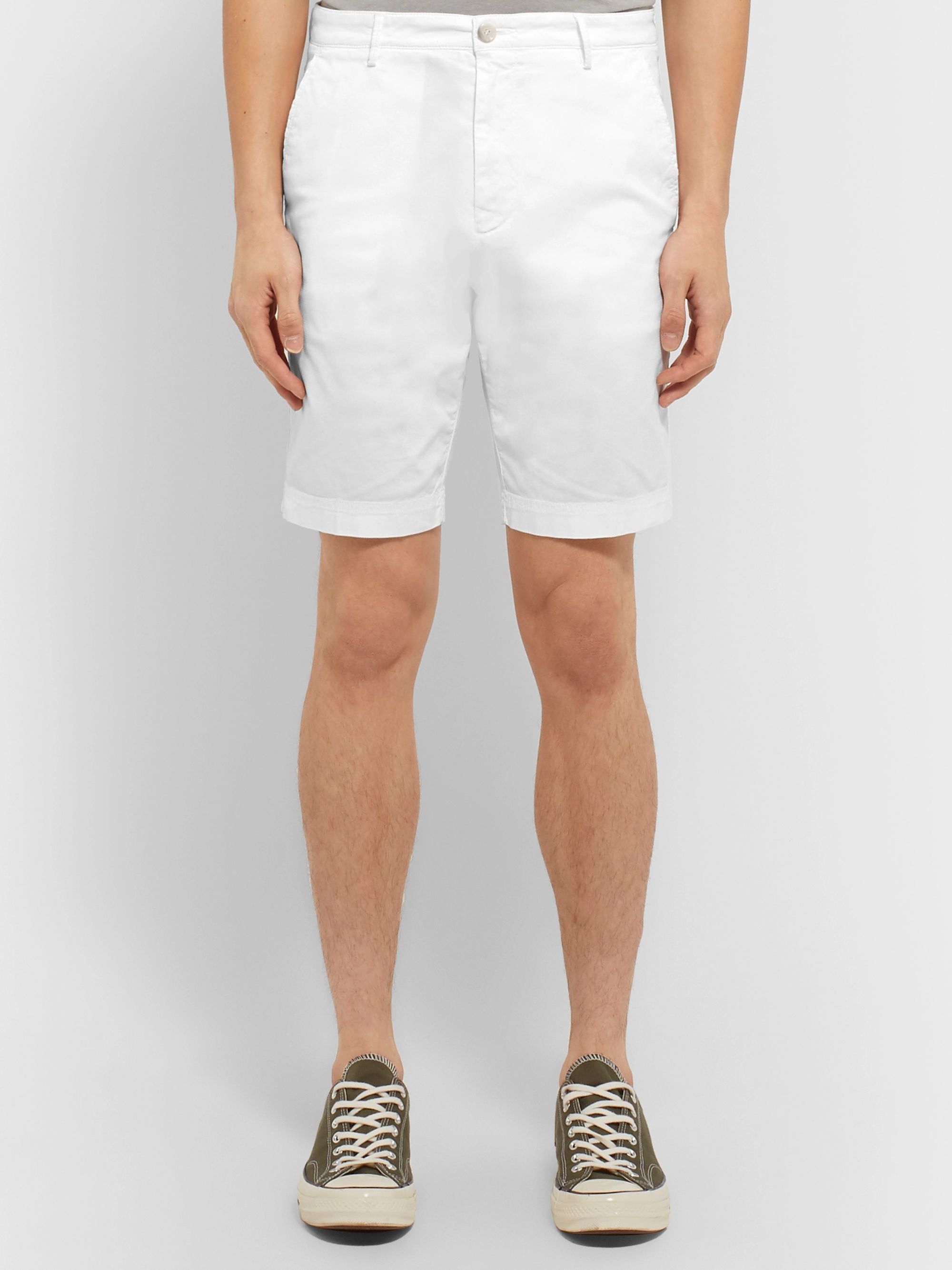 Hugo Boss Slim-Fit Overdyed Stretch-Cotton Shorts