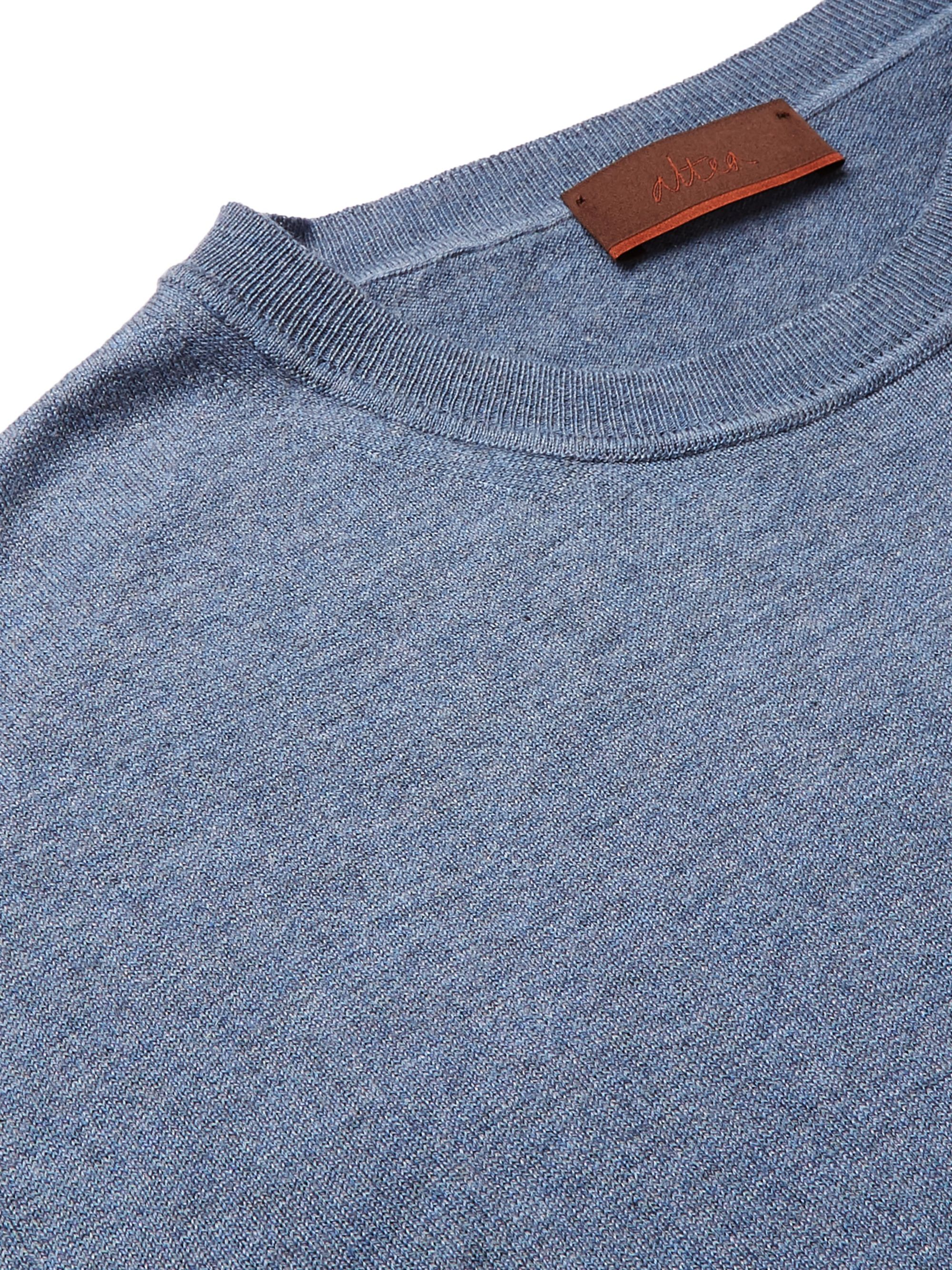 Altea Cotton and Cashmere-Blend Sweater