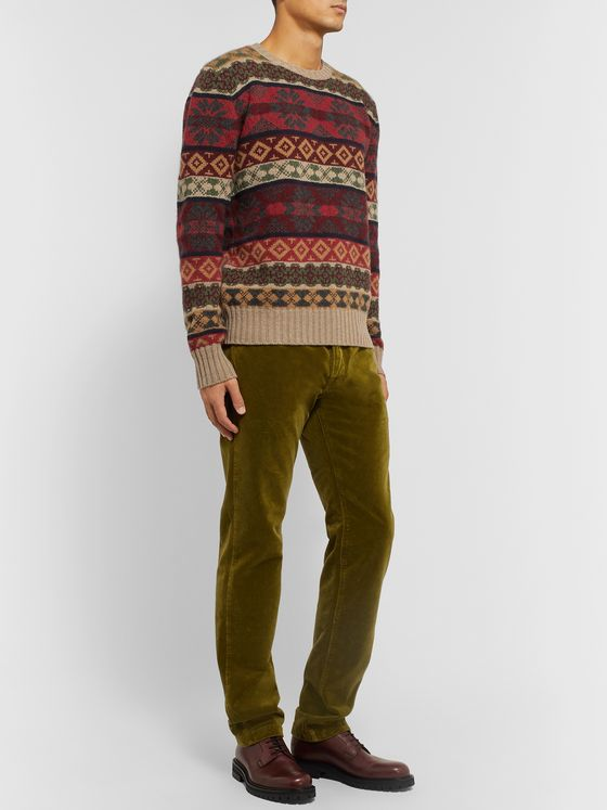 Etro Fair Isle Cashmere and Wool-Blend Jacquard Sweater