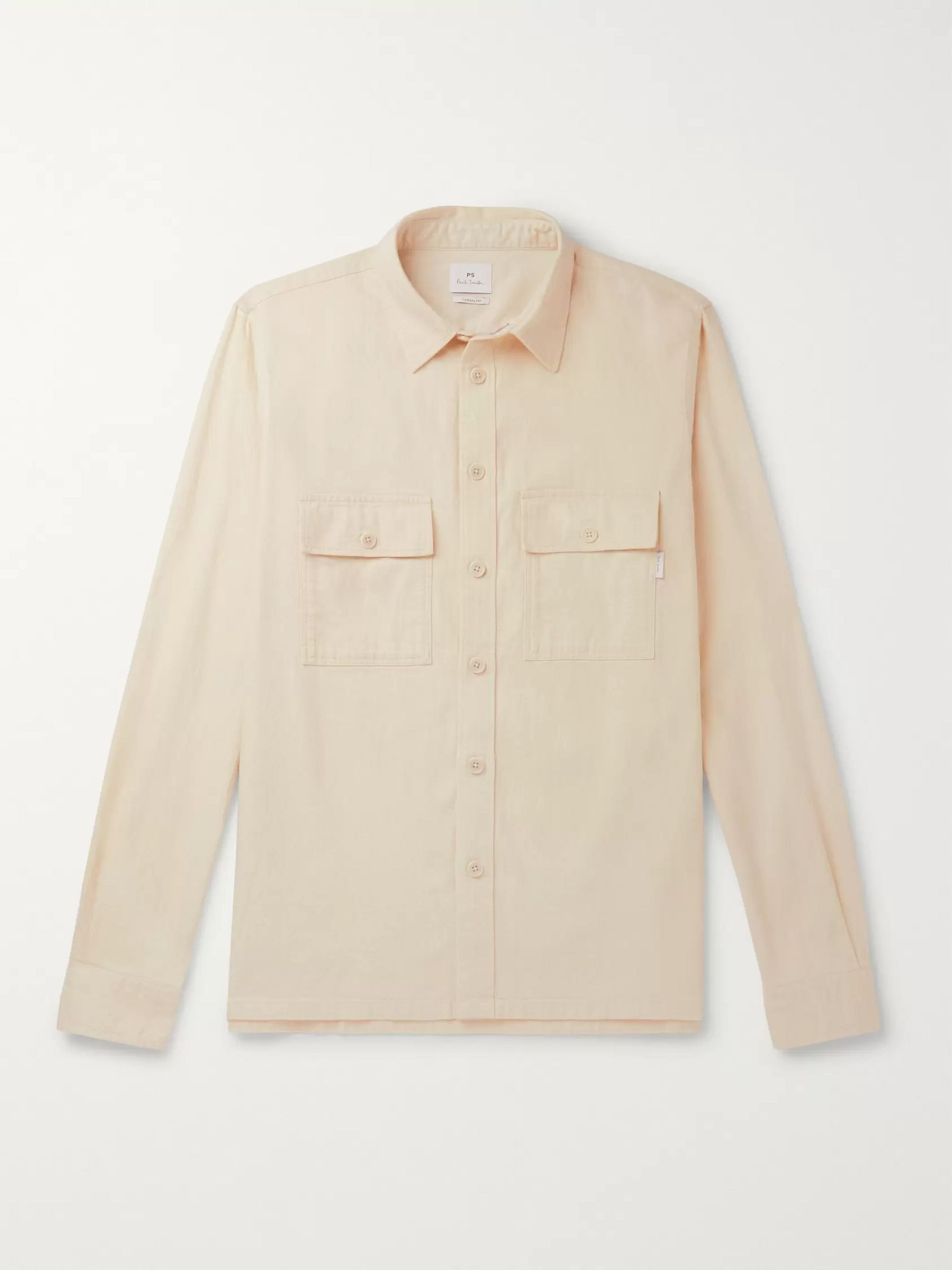 Cotton Blend Twill Overshirt by Ps Paul Smith